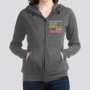 Friends Quotes Women's Zip Hoodie