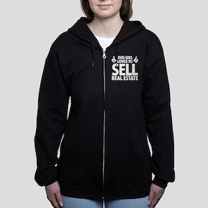 Girl Sells Real Estate Women's Zip Hoodie