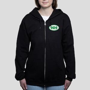 New Hampshire NH Euro Oval Women's Zip Hoodie