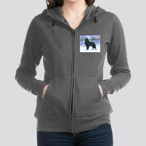 Belgian Sheepdog In Snow Sweatshirt