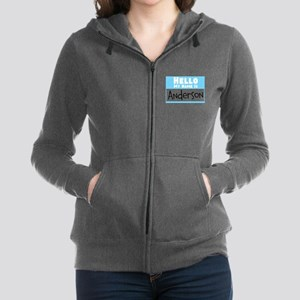 Personalized Name Tag Women's Zip Hoodie