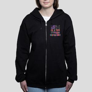 24 Birthday Designs Women's Zip Hoodie