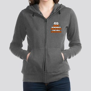 46 Just Remember Birthday Desig Women's Zip Hoodie