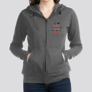 24 Keep Calm And Party On Women's Zip Hoodie