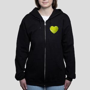 Tennis Heart Women's Zip Hoodie