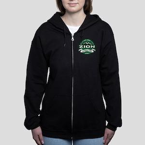 Zion Logo Forest Zip Hoodie
