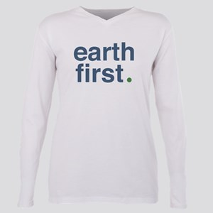 Earth First Plus Size Long Sleeve Tee T-Shirt