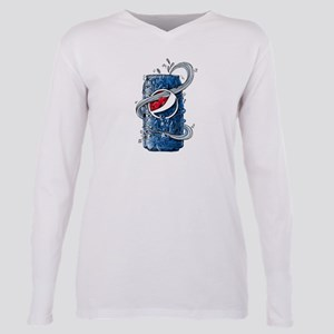 Pepsi Can Doodle Plus Size Long Sleeve Tee