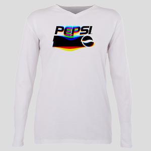 Pepsi Logo Glitch Plus Size Long Sleeve Tee