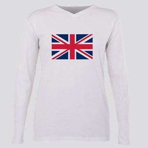 British Flag Plus Size Long Sleeve Tee