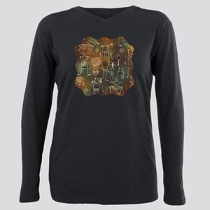 Hopi-Petroglyphs-T-shirt Plus Size Long Sleeve Tee
