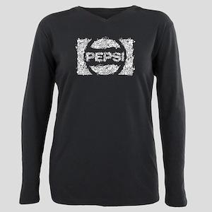 Pepsi Logo Doodle Plus Size Long Sleeve Tee