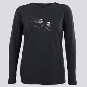 chickadee song birds Plus Size Long Sleeve Tee