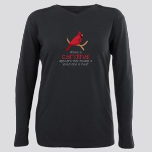 When Cardinal Appears Plus Size Long Sleeve Tee