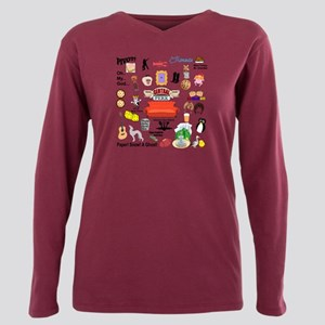 friendstv Collage Plus Size Long Sleeve Tee
