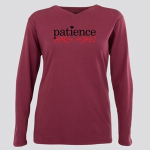 Patience Plus Size Long Sleeve Tee T-Shirt