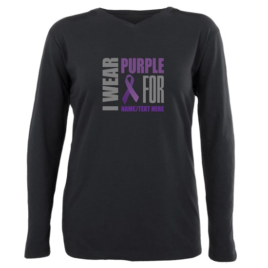 Purple Ribbon Awareness Customized