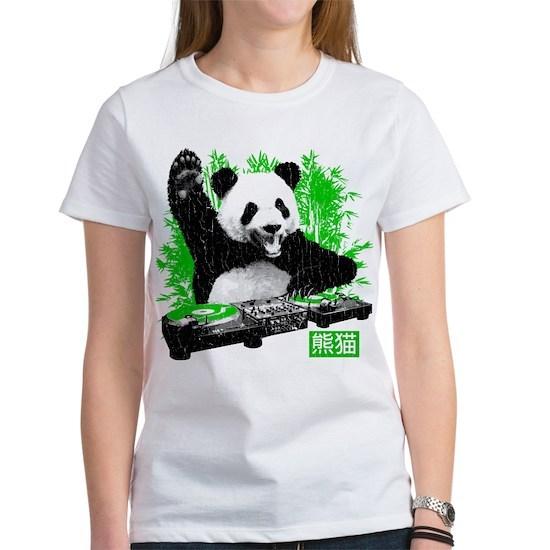 5fc603b31 DJ Panda (vintage distressed look) Women's Favorit by Robot Face T ...