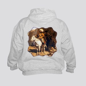 Mountain Men Western Art Kids Hoodie