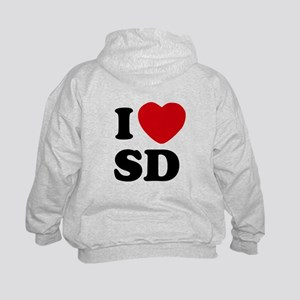 Two Sided I Heart SD Kids Hoodie