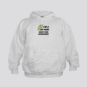 Personalized Last Name Kids Hoodie