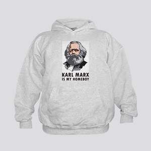 Karl Marx Is My Homeboy Kids Hoodie