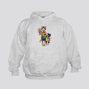 Cute Cats Bearing Gifts Kids Hoodie