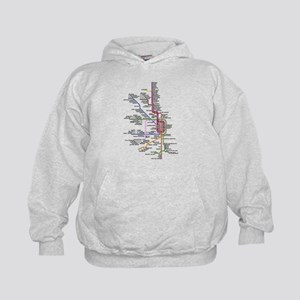 Custom Chicago CTA system map Kids Hoodie