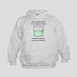 The Glass is Too Large Kids Hoodie
