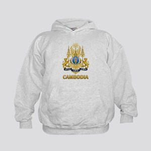 Cambodia Coat Of Arms Kids Hoodie