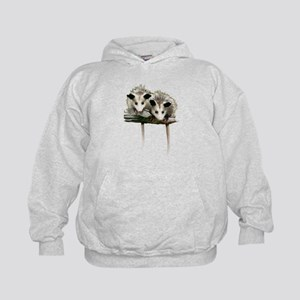Baby Possums on a Branch Kids Hoodie