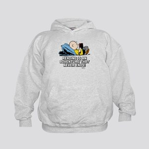 Charlie Brown Reading Adventure Kids Hoodie