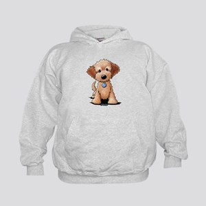 KiniArt Goldendoodle Puppy Kids Hoodie