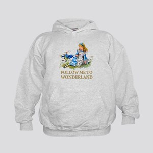 FOLLOW ME TO WONDERLAND Kids Hoodie
