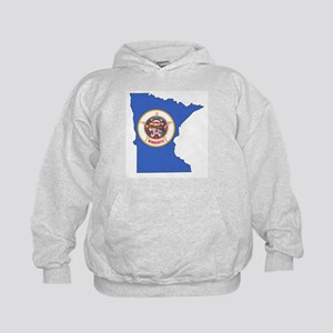 Minnesota Outline Map and Flag Sweatshirt