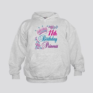 11th Birthday Princess Kids Hoodie