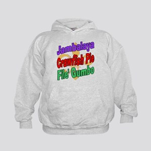 Jambalaya, Crawfish Pie, File Kids Hoodie