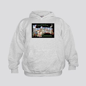 New Orleans Louisiana Greetings Kids Hoodie