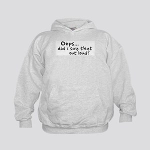Did I Say That Out Loud? Kids Hoodie