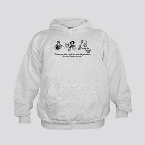 First The Man Takes A Drink... Kids Hoodie