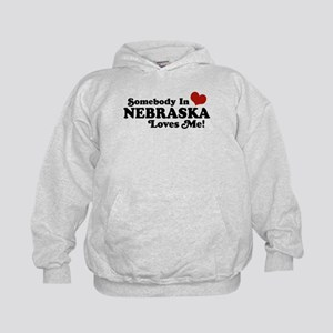 Somebody in Nebraska Loves Me Kids Hoodie