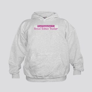 Grandmother of a Social Scien Kids Hoodie