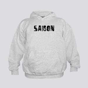 Saigon Faded (Black) Kids Hoodie