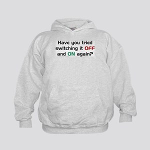Switch On/Off. Kids Hoodie