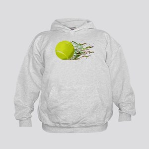 Tennis Ball Flames Artistic US Open Wimbleton Hood
