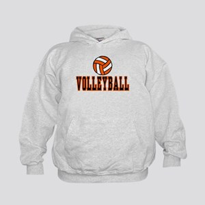 VOLLEYBALL {20} : orange Kids Hoodie