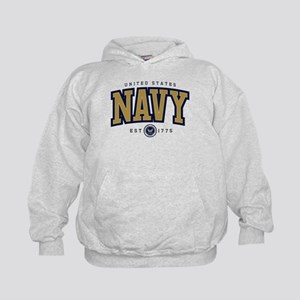 United States Navy Athletic Kids Hoodie