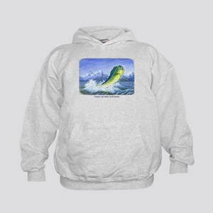 Dolphin in the Weeds Kids Hoodie