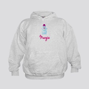 Margie the snow woman Kids Hoodie