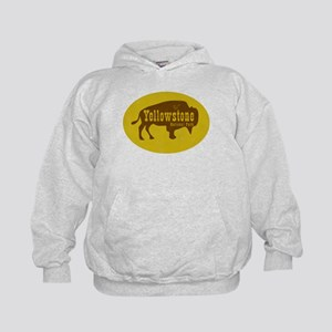 Yellowstone Bison Decal Kids Hoodie